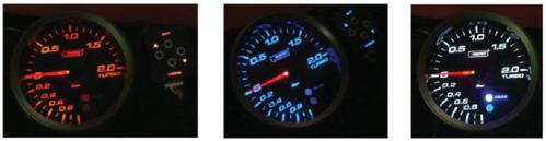 Manometro Pressione Turbo Analogico + Allarme – Prosport – 80mm