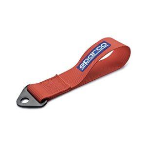 SPR-01612RS gancio traino laccio sparco stoffa rosso logo blu mondotuning mtelaborazioni