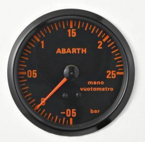 Manometro Pressione Turbo Analogico 80mm - Serie Abarth