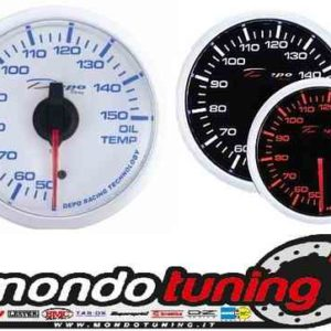 Manometro Temperatura Olio Analogico - Depo Racing - White/Black Line