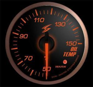 Manometro Temperatura Olio Analogico + Allarme - Stri - 52mm - Fumè