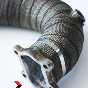 downpipe skat scatalizzato skatalizzato Mitsubishi td04 td04l grande punto abarth evo 500 595 695 almar exhaust benda termica bendato mondotuning mtelaborazioni