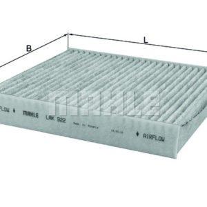 LAK 241 eLAK 922 filtro aria abitacolo carboni carbone attivi mahle original antipolline climatizzatore 500 595 695 abarth mtelaborazioni mondotuning