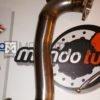 downpipe skat scatalizzato scat turbina turbo mitsubishi td04 td04l grande punto abarth 500 595 695 alfa romeo mito tjet 1.4 powermotive mondotuning mtelaborazioni acciaio artigianale