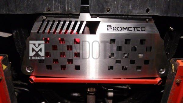 padella coperchio sotto motore protezione acciaio inox prometeo meccanica coppa olio mondotuning mtelaborazioni 500 595 695 abarth competizione turismo biposto