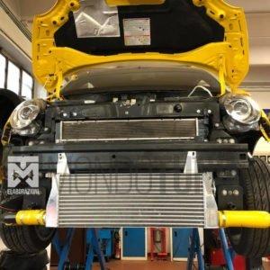 intercooler maggiorato frontale 500 595 695 abarth artigianale girotubi tubazioni alluminio orra tbf performance mondotuning mtelaborazioni