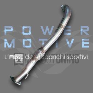 flessibile scarico tubo anteriore grande punto abarth evo alfa romeo mito acciaio inox maggiorato powermotive mondotuning mtelaborazioni artigianale