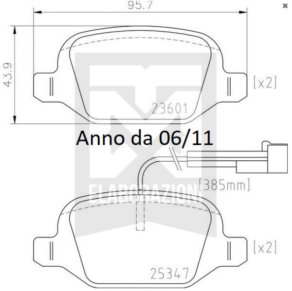 P23064 P23146 serie kit pastiglie brembo posteriori post ricambio originale sportive 500 595 695 abarth mondotuning mtelaborazioni