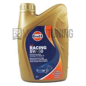 olio motore sintetico alte prestazioni Olio motore Gulf Racing Series 5w50 - Sintetico per Vetture Benzina e Diesel ad alte prestazioni turbo o aspirate - Additivo Antiattrito di alta qualità