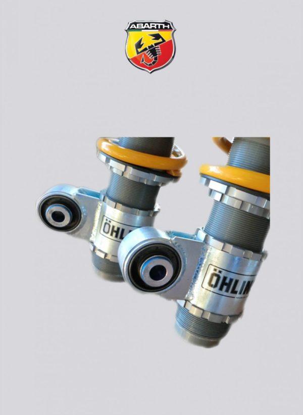 kit-ammortizzatori assetto ghiera coilover regolabile durezza estensione compressione altezza-ohlins-roadtrack-500 595 695 abarth mondotuning mtelaborazioni