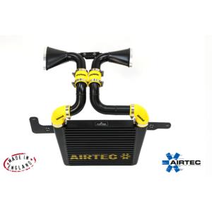 ATINTMINI03 intercooler frontale maggiorato airtec nero radiatore mini cooper s r53 r53s airtec motorsport manicotti silicone siliconici girotubi volumetrico mondotuning mtelaborazioni