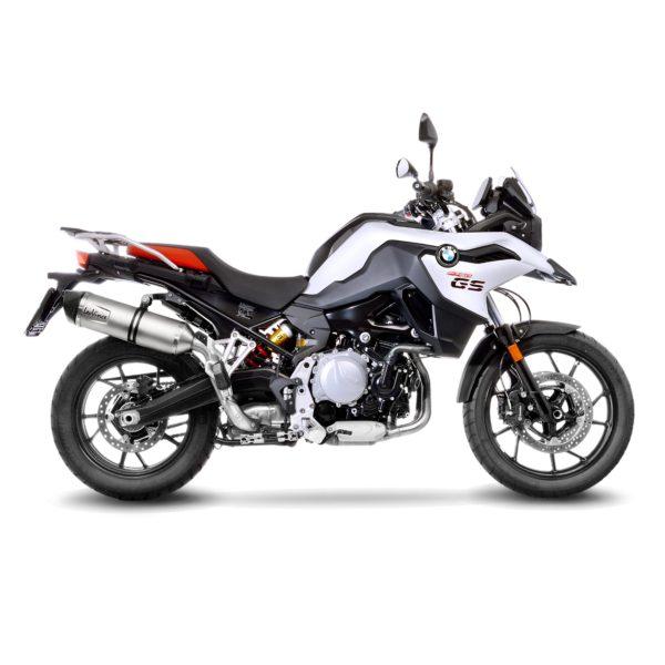 14263E BMW f750gs f750 gs f 750gs terminale scarico finale leovince lv one evo stainless steel acciaio moto leo vince vinci mondotuning mtelaborazioni