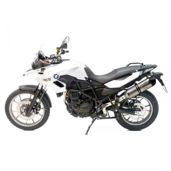 8287E BMW F700GS F700 GS F 700GS terminale scarico finale leovince lv one evo stainless steel acciaio moto leo vince vinci mondotuning mtelaborazioni