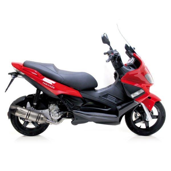 8489E gilera nexus 300 nexus300 scooter terminale scarico finale leovince lv one evo stainless steel acciaio moto leo vince vinci mondotuning mtelaborazioni