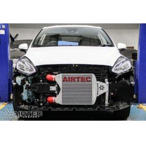 ATINTFO41 intercooler maggiorato frontale twintube airtec motorsport stage1 ford fiesta mk8 1.0 ecoboost eco boost turbo raffreddamento prestazioni mondotuning mtelaborazioni