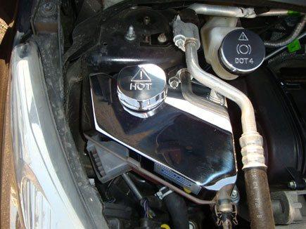 2256 ASCOVFO54 header tank cover vaschetta serbatoio acqua liquido radiatore acciaio inox alluminio ford fiesta mk7 st180 st200 ecoboost airtec autospecialist mondotuning mtelaborazioni